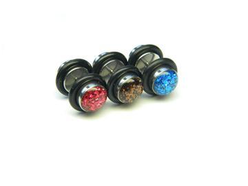Fake piercing s třpytivým kamínkem FPLP2