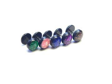 Fake piercing s třpytivým kamínkem NFUPLP2
