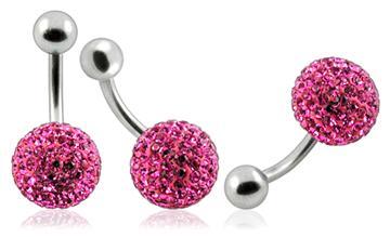 Piercing Crystal kulička se stříbrnou kuličkou PBSW00002