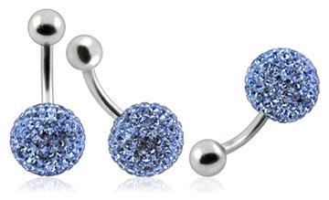 Piercing Crystal kulička se stříbrnou kuličkou PBSW00003