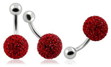 Piercing Crystal kulička se stříbrnou kuličkou PBSW00005