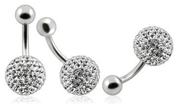 Piercing Crystal kulička se stříbrnou kuličkou PBSW00001
