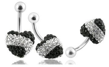 Piercing Crystal kulička se stříbrnou kuličkou PBSW00027