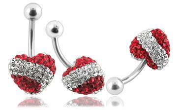 Piercing Crystal kulička se stříbrnou kuličkou PBSW00028