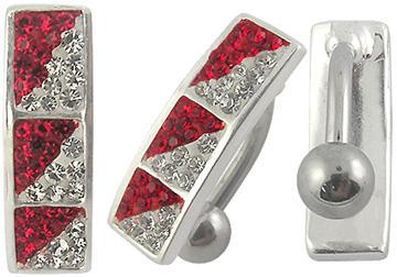 Piercing Crystal kulička se stříbrnou kuličkou PBSW00031