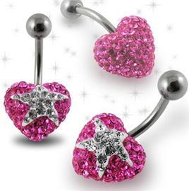 Piercing Crystal kulička se stříbrnou kuličkou PBSW00022
