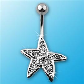 Piercing do pupíku - hvězdice PBP00227