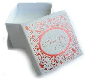 Krabička zlatá I LOVE YOU - kopie