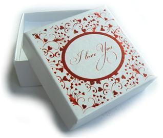 Krabička bílá malá I LOVE YOU