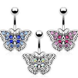 Piercing s motýlkem PBP00251