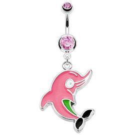 Piercing do pupíku s delfínkem PBV00484