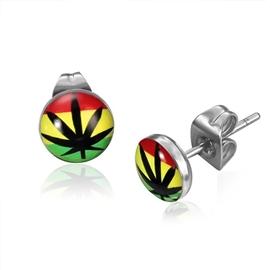 Náušnice - marihuana NAU00738