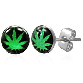 Náušnice - marihuana NAU00797