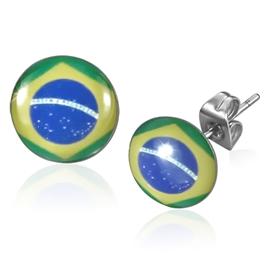 Náušnice - brazilská vlajka NAU00803