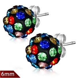 Náušnice s krystaly NAU00884