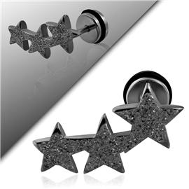 Falešný piercing - hvězdičky PFA00218