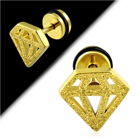 Falešný piercing - diamant PFA00230