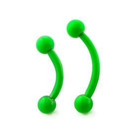 Piercing do obočí neonový s kuličkami POB00192