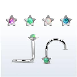 Piercing do nosu - hvězdička PNO00230