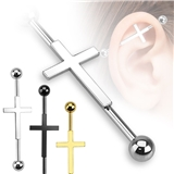 Industrial piercing - kříž PIN00035