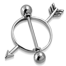 Piercing do bradavky - šíp PBR00015