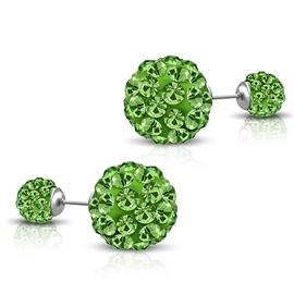 Náušnice - kuličky s krystaly NAU00925