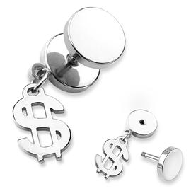 Falešný piercing - dolary PFA00261