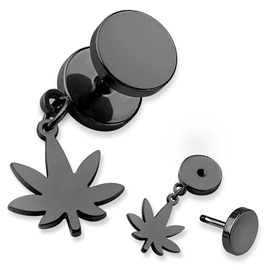 Falešný piercing - marihuana PFA00265