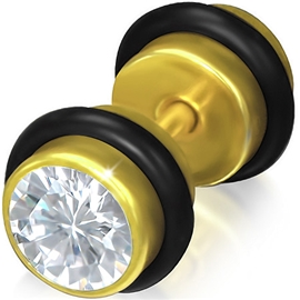 Falešný piercing s kamínkem PFA00268