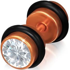 Falešný piercing s kamínkem PFA00269