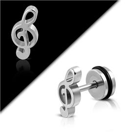 Falešný piercing - houslový klíč PFA00282