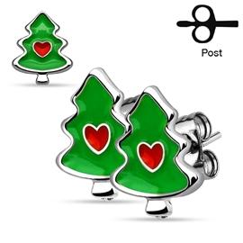Náušnice - Vánoční stromeček NAU00941
