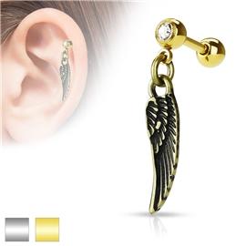 Činka do ucha - andělské křídlo PNC00071