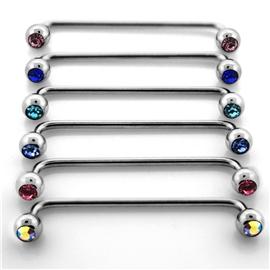 Industrial piercing s kamínky PIN00049