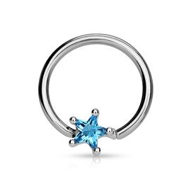 Kruh - hvězdička s kamínkem PKR00089