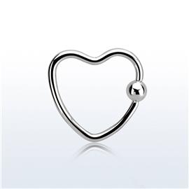Kroužek ve tvaru srdce PKR00091