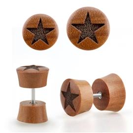 Falešný piercing - hvězdička PFA00292