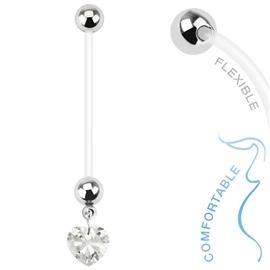 Těhotenský piercing do pupíku - srdíčko PBV00565