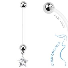 Těhotenský piercing do pupíku - hvězdičky PBV00566