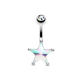 Piercing do pupíku - hvězdička PBP00277