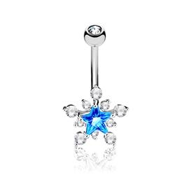 Piercing do pupíku - hvězdička PBP00282
