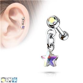 Činka do ucha s hvězdičkou PNC00104