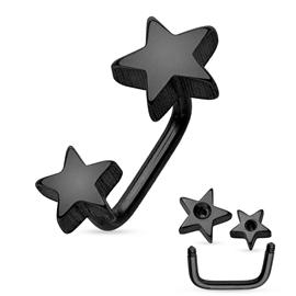 Piercing do obočí hvězdičky POB00206