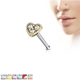 Piercing do nosu srdíčko PNO00252