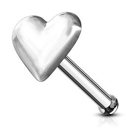 Piercing do nosu (stříbro 925/1000) - srdíčko PNO00124