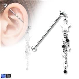 Industrial piercing - hvězdičky PIN00057
