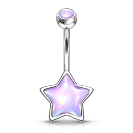 Piercing do pupíku - hvězdička PBP00289