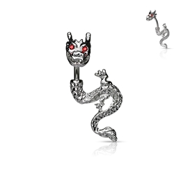 Piercing do pupíku - drak PBP00294