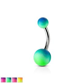 Piercing do pupíku - gumové kuličky PBK00183