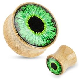 Plug do ucha - zelené oko PTP00276